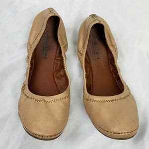 Lucky Brand Nude Tan Ballet Leather Flats 8